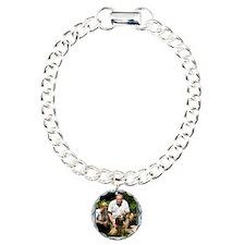 Custom silver baroque framed photo Bracelet