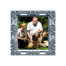 Custom silver baroque framed photo Square Sticker
