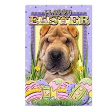 EasterEggCookiesSharPei Postcards (Package of 8)