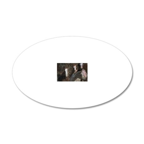 The mares 20x12 Oval Wall Decal