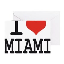 I love Miami Greeting Card