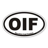 Operation Iraqi Freedom OIF Euro Oval  Aufkleber