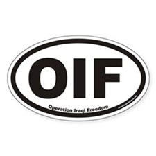 Operation Iraqi Freedom OIF Euro Oval Decal