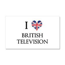 I Love British Television Car Magnet 20 x 12