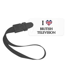 I Love British Television Luggage Tag