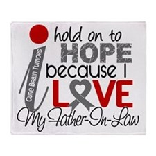 D Hope For My Father-In-Law Brain Tu Throw Blanket
