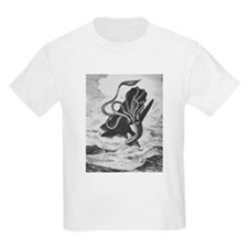Giant Squid vs. Sperm Whale Kids T-Shirt