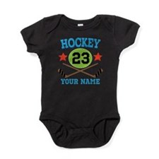 Personalized Hockey Player Number Baby Bodysuit