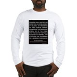 NY 1st Amendment White Long Sleeve T-Shirt