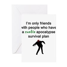 Zombie Apocalypse Friends Greeting Cards
