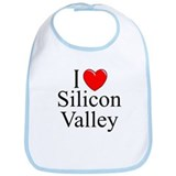 """I Love Silicon Valley"" Bib"