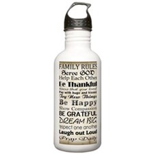 Family Rules God Sports Water Bottle