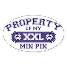 miniaturepinscherproperty Decal