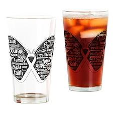 Emphysema Awareness Butterfly Drinking Glass