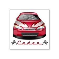 "Caden car2 Square Sticker 3"" x 3"""