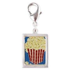 popcorn journal 2 copy Silver Portrait Charm