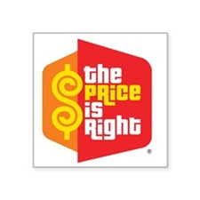 "price_is_right_logo Square Sticker 3"" x 3"""