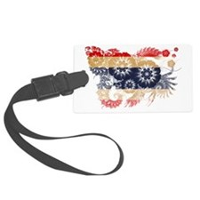 Thailand textured flower Luggage Tag