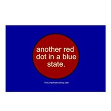 Red Dot in a Blue State Postcards (Package of 8)