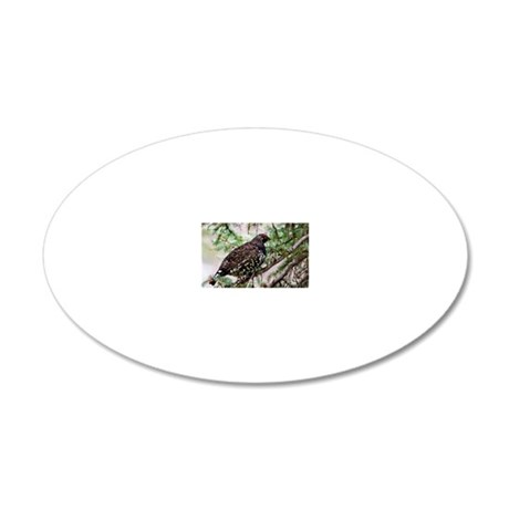 Spruce Grouse-6 20x12 Oval Wall Decal