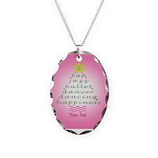 Custom Pink Dancer's Christmas Tree Necklace