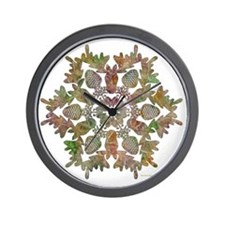 moose snowflake Wall Clock