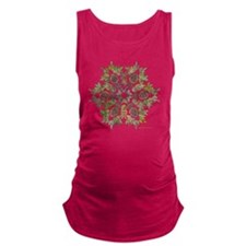 moose snowflake Maternity Tank Top
