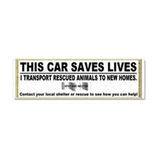 Funny Dog rescue Car Magnet 10 x 3