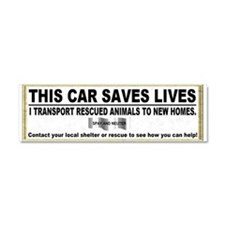 Cute Rescue dog Car Magnet 10 x 3