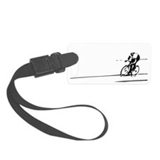 Cyclist Illustration Luggage Tag