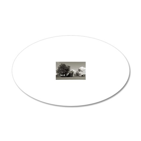 The Parish Church of St Andr 20x12 Oval Wall Decal
