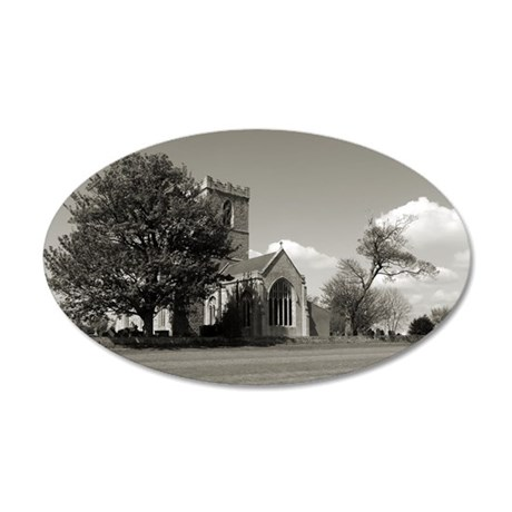 The Parish Church of St Andr 35x21 Oval Wall Decal