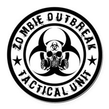 zombie outbreak tactical unit Round Car Magnet