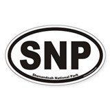 Shenandoah National Park SNP Euro Oval Decal