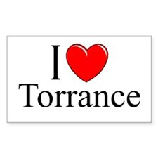 """I Love Torrance"" Rectangle Decal"