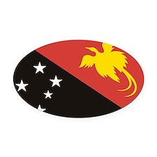 Papua NG (Laptop Skin) Oval Car Magnet