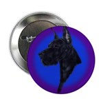 Black Great Dane Button
