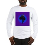 Black Great Dane Long Sleeve T-Shirt