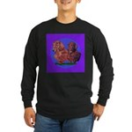 Long Haired Dachshunds Long Sleeve Dark T-Shirt