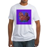 Long Haired Dachshunds Fitted T-Shirt