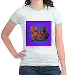 Long Haired Dachshunds Jr. Ringer T-Shirt