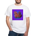Long Haired Dachshunds White T-Shirt