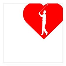 "I-Heart-Golf-2-darks Square Car Magnet 3"" x 3"""