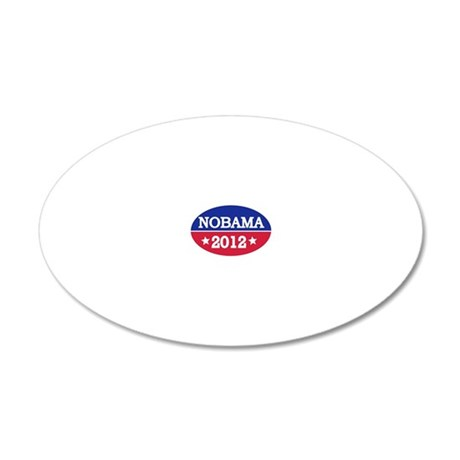 nobama_oval 20x12 Oval Wall Decal