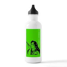 grrr-GREEN+TXT Water Bottle