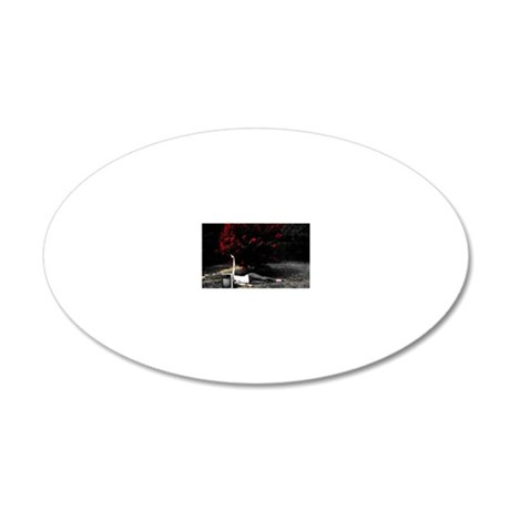 This is How I watch TV 20x12 Oval Wall Decal