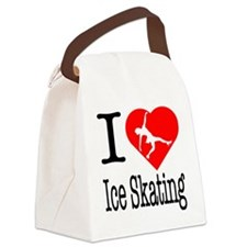 I-Heart-Ice-Skating Canvas Lunch Bag