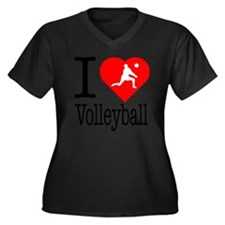 I-Heart-Voll Women's Plus Size Dark V-Neck T-Shirt