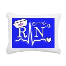 Oncology RN Blue Rectangular Canvas Pillow