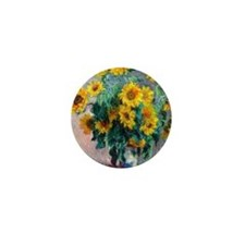NC Monet Sunflowers Mini Button